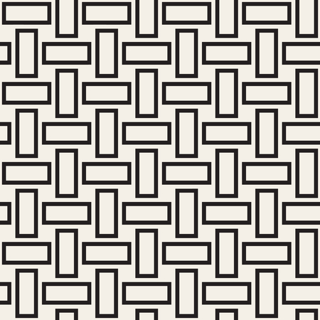 twill: Trendy monochrome twill weave. Vector Seamless Black and White Pattern.