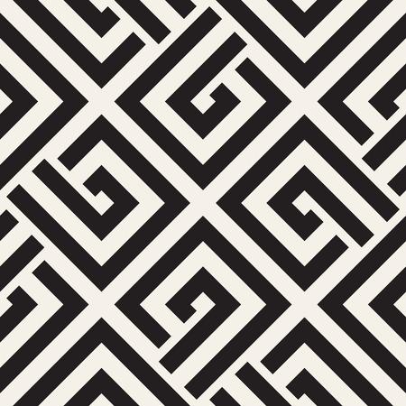 Repeating Geometric Stripes Tiling. Ornamental Stylish Texture. Illustration
