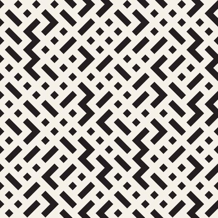 tiling: Irregular maze shapes tiling contemporary graphic. Illustration