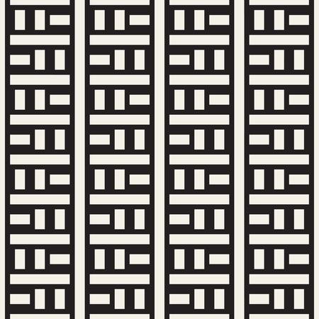 Interlacing Lines Maze Lattice. Ethnic Monochrome Texture. Abstract Geometric Background Design.