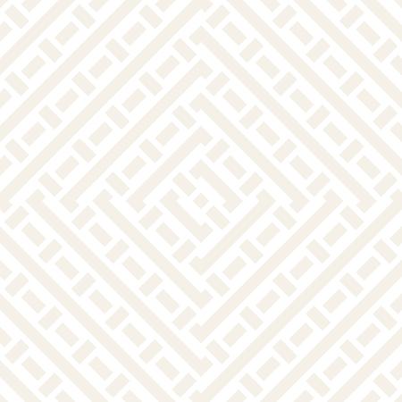 Interlacing Lines Subtle Lattice. Ethnic Monochrome Texture. Vector Seamless Black and White Pattern.