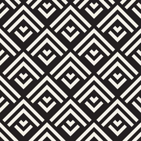 Seamless Vector Pattern. Abstract Geometric Background. Elegant Stripes Lattice