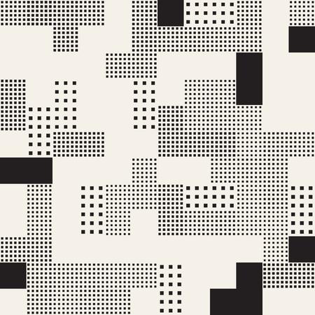 Abstrait sans fin avec des carrés de taille aléatoire. Modèle sans couture de vecteur.