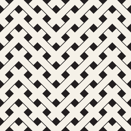netting: Weave Seamless Pattern. Stylish Repeating Texture. Black and White Geometric Vector Illustration.
