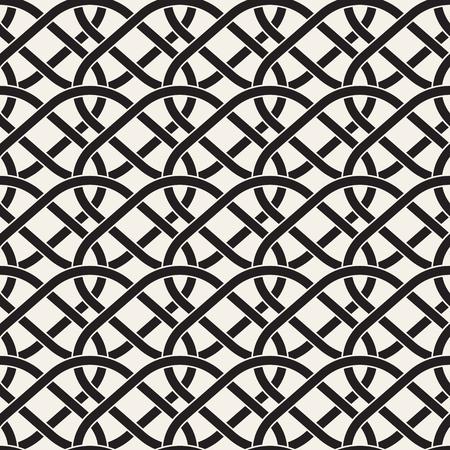 Vector Seamless Line Grid Pattern. Abstract Geometric Background Design. Stylish Lattice Texture Illustration