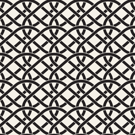 Vector Seamless Line Grid Pattern. Abstract Geometric Background Design. Stylish Lattice Texture 向量圖像