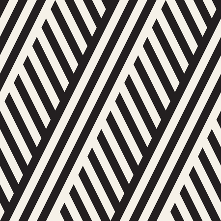 Interlacing Parallel Stripes. Vector Seamless Monochrome Pattern. Abstract Geometric Background.