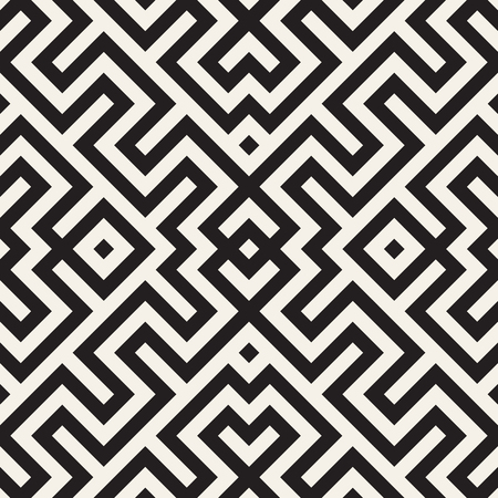 stripped: Maze Tangled Lines Contemporary Graphic. Abstract Geometric Background Design.