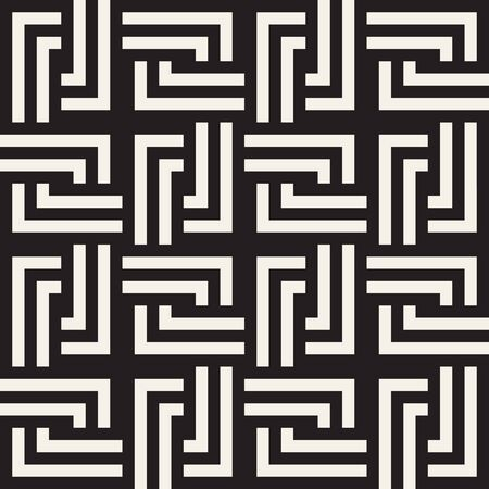 Seamless Vector Pattern. Abstract Geometric Background. Linear Grid Structure. Elegant Stripes Lattice