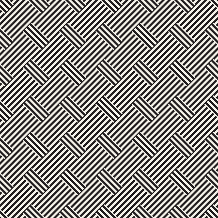 trellis: Abstract Geometric Pattern With Stripes Lattice. Seamless Vector Background. Monochrome Stylish Texture.