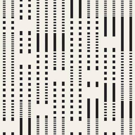 Motif de lignes pointillées irrégulières noir et blanc. Arrière-plan transparent vecteur abstrait moderne Vecteurs