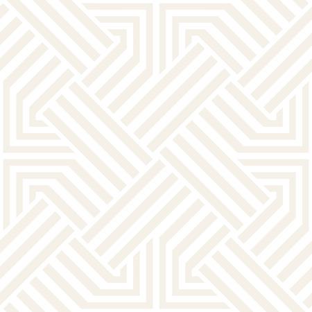 Repeating Geometric Stripes Tiling. Ornamental Stylish Texture. Vector Seamless Monochrome Subtle Pattern