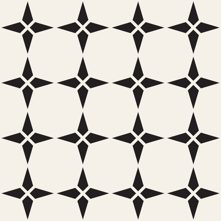 Vector seamless lattice pattern. Modern stylish texture. Repeating geometric star shape tiles