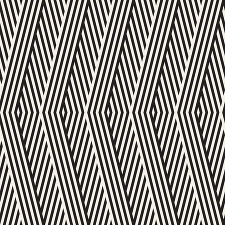 diagonal stripes: Abstract ZigZag Parallel Stripes. Stylish Ethnic Ornament. Vector Seamless Pattern.