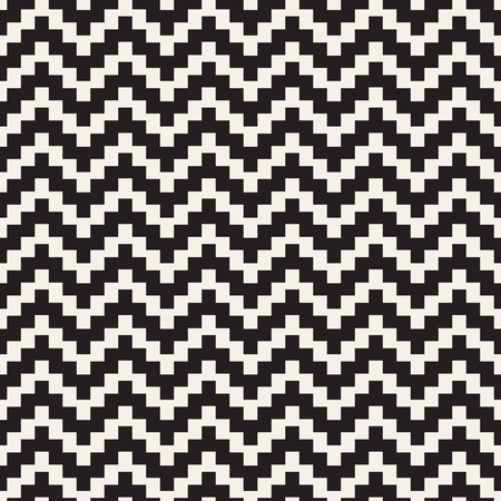 rug texture: Repeatable geometric grid texture. Vector seamless mesh pattern. Monochrome zigzag edgy lines abstract background