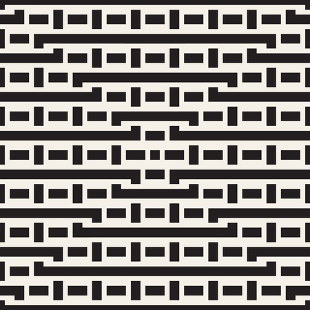 interlace: Interlacing Lines Maze Lattice. Ethnic Monochrome Texture. Abstract Geometric Background Design.
