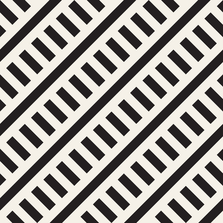 Interlacing Parallel Stripes. Monochrome Pattern. Abstract Geometric Background. Illustration