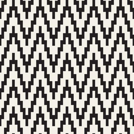 rug texture: Repeatable geometric grid texture. Vector seamless mesh pattern. Monochrome zigzag edgy lines. Illustration