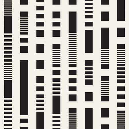Motif de lignes pointillées irrégulières noir et blanc. Arrière-plan transparent vecteur abstrait moderne