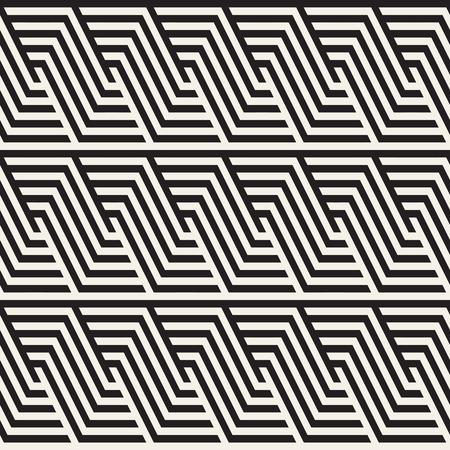 Repeating Slanted Stripes Modern Texture. Simple Regular Background. Monochrome Geometric Seamless Pattern. Vector Illustration