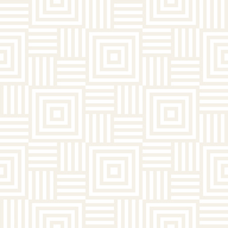 Stylish Lines Maze Lattice. Ethnic Monochrome Texture. Abstract Geometric Background Design. Vector Seamless Subtle Pattern.