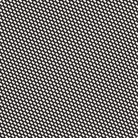 再現性のある幾何学的なグリッド テクスチャ。ベクトルの継ぎ目のないメッシュ パターン。モノクロのジグザグ エッジの効いたライン抽象的な背  イラスト・ベクター素材