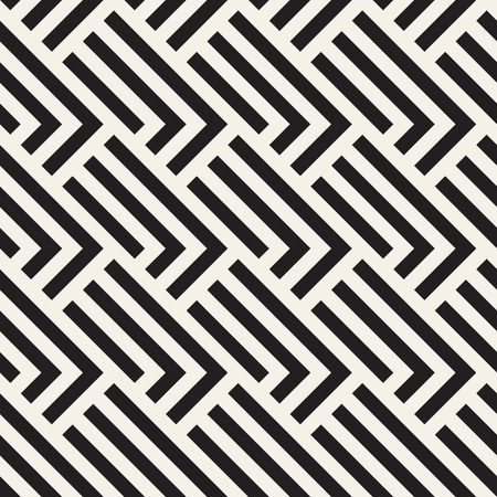 grid background: Stylish Lines Lattice. Ethnic Monochrome Texture. Abstract Geometric Background Design. Vector Seamless Black and White Pattern. Illustration