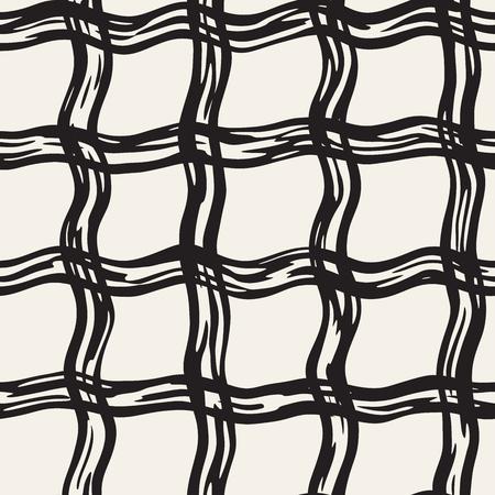 Hand gezeichnet nahtlose Plaid Muster. Allover Muster mit Tinte Doodle Grunge Raster. Standard-Bild - 79256845