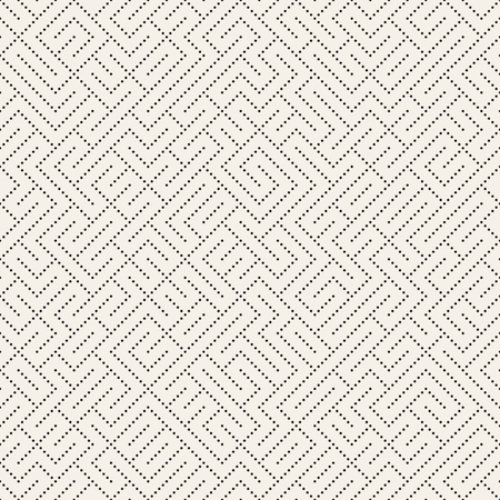 Irregular Techno Maze Lines. Abstract Geometric Background Design. Vector Seamless Black and White Chaotic Pattern. Illustration