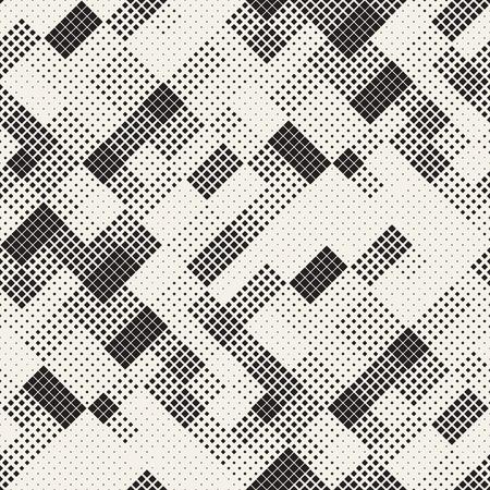 texture de demi-teinte élégante moderne . abstrait sans fin avec des carrés de carrés de vecteur . élément de mosaïque sans fin de poly de poly