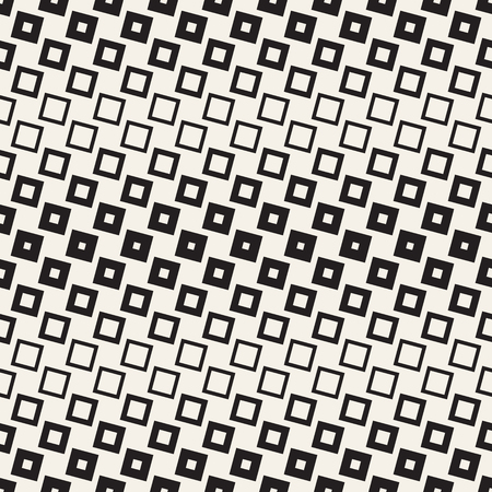 pattern: Repeating Geometric Rectangle Tiles. Stylish Monochrome Lattice. Vector Seamless Pattern.
