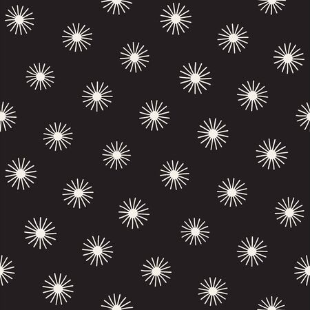 Vector seamless sunburst shapes freehand pattern. Abstract background with round brush strokes. Monochrome hand drawn texture