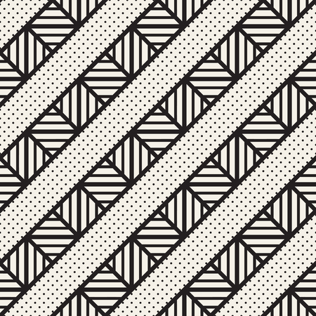 trellis: Vector seamless black and white trendy pattern. Modern stylish repeating texture. Repeating geometric lattice