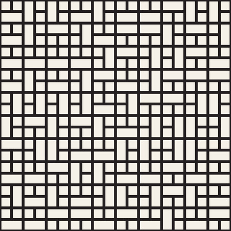 mesh: Vector seamless pattern. Mesh repeating texture. Linear grid with chaotic shapes. Stylish geometric lattice modern design Illustration