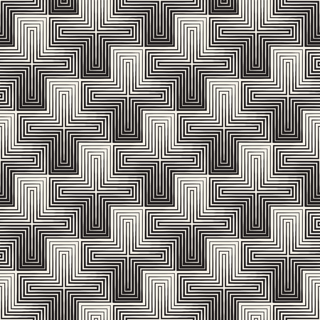 mesh: Vector seamless cross tiling pattern. Modern stylish geometric lattice texture. Repeating mosaic abstract background