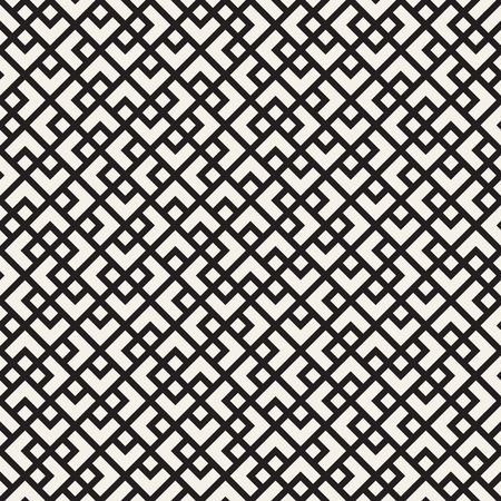 chaotic: Vector seamless pattern. Mesh repeating texture. Linear grid with chaotic shapes. Stylish geometric lattice modern design Illustration