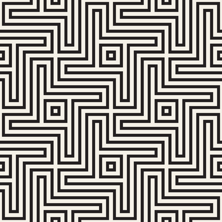 grid: Abstract geometric pattern with stripes, lines. Seamless vector stylish ackground. Black and white lattice texture.