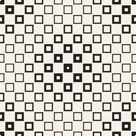 grid: Repeating Geometric Rectangle Tiles. Stylish Monochrome Lattice. Vector Seamless Pattern.