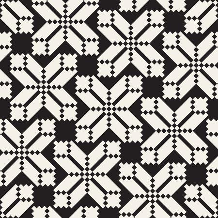 シームレスなクロス タイル パターン ベクトル。モダンなスタイリッシュな幾何学的な格子のテクスチャです。モザイクの抽象的な背景を繰り返し