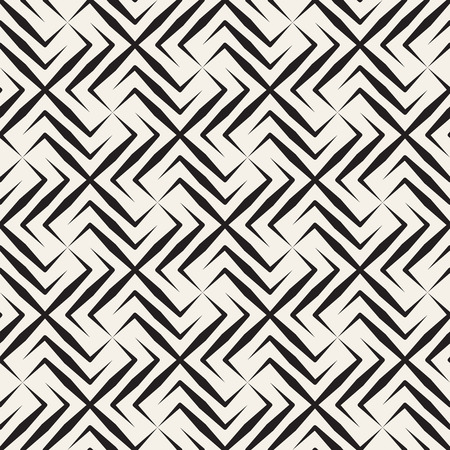 Vector seamless cross tiling pattern. Modern stylish geometric lattice texture. Repeating mosaic abstract background