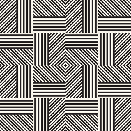 ストライプ、ラインを持つ抽象的な幾何学的パターン。  イラスト・ベクター素材