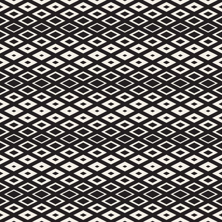 endless repeat structure: Repeating Geometric Rectangle Tiles. Stylish Monochrome Lattice. Vector Seamless Pattern.