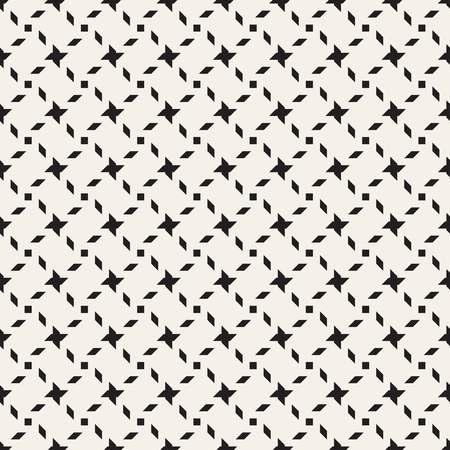 grid background: Crosshatch vector seamless geometric pattern. Crossed graphic rectangles background. Checkered motif. Seamless black and white texture of crosshatched bold lines. Trellis simple fabric print. Illustration