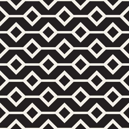 grid background: Abstract geometric lines lattice pattern. Seamless vector stylish background. Black and white simple repeating texture.