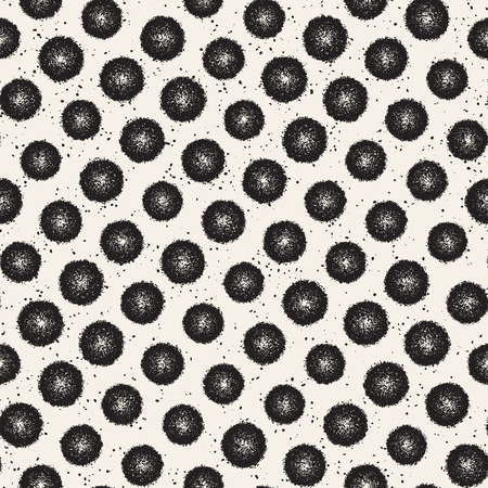 ink stain: Grungy vector pattern with scattered circle shapes. Seamless texture abstract background print, fabric, textile, card, wrapping paper, wallpaper