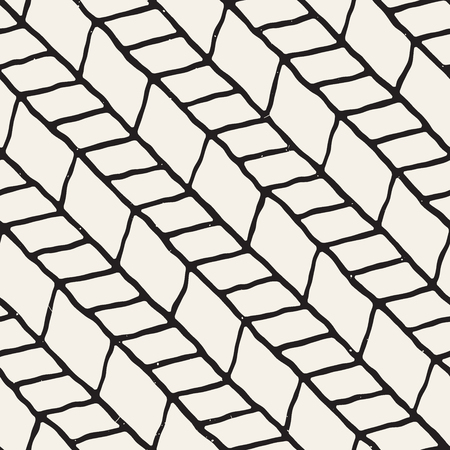 tile pattern: A Seamless pattern with hand drawn brush strokes or ink doodle grunge illustration. Geometric monochrome vector pattern. Illustration