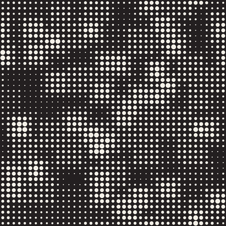 grid pattern: Modern Stylish Halftone Texture. Endless Abstract Background With Random Size Circles. Vector Seamless Mosaic Pattern.