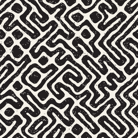 Seamless pattern with maze lines.