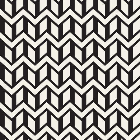 Vector seamless zigzag line pattern