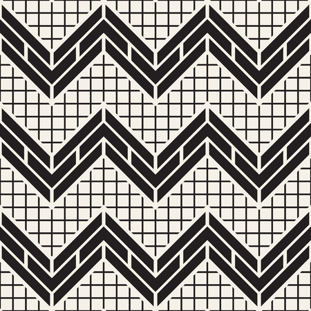 weave: Vector seamless black and white trendy pattern. Modern stylish repeating texture. Repeating geometric lattice